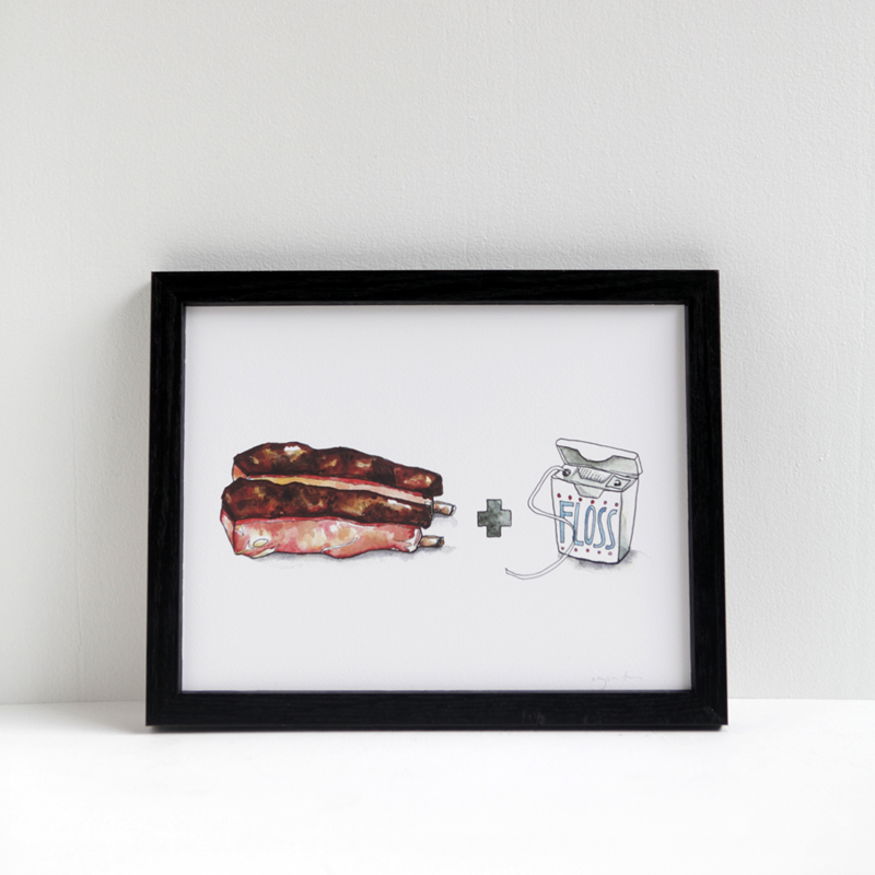 Ribs and Floss by Drywell Art
